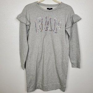 NWT Girls Gap Rainbow Sequin Logo Sweater Dress